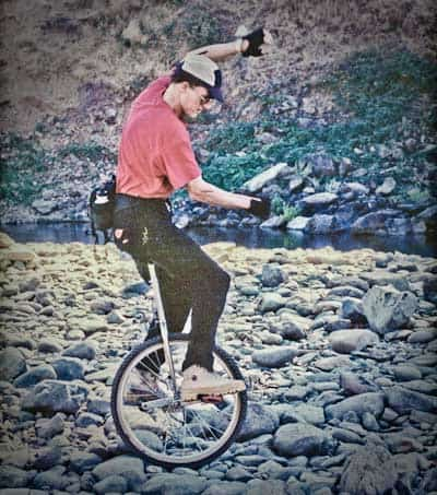 Rough-Terrain Unicycling